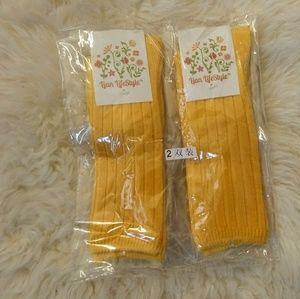 Tall Yellow Socks